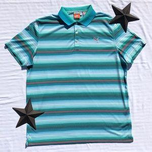 Puma Shirts - Puma Striped Performance Shirt
